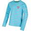 Regatta Carella - T-shirt manches longues Enfant - blanc/turquoise